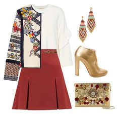 """""""Gold Etnia"""" by paolas91 on Polyvore featuring Tory Burch, Gas Bijoux, Christian Louboutin and Dolce&Gabbana"""