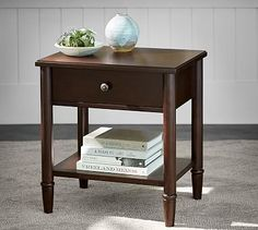 """Crosby Bedside Table #potterybarn Overall: 24"""" wide x 18.25"""" deep x 26"""" high"""