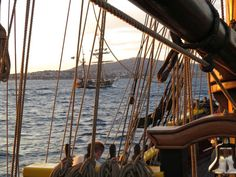 Hawaiian Chieftain from the deck of Lady Washington. #travel #sailing #ships http://historicalseaport.org/
