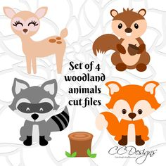Cute Woodland Forest Animal Cut Files Fox SVG File Deer Baby Animals For Cricut By CatchingColorFlies