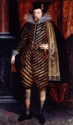 James I of England & VI of Scotland, he was the successor to the English throne when his cousin several-times-removed Queen Elizabeth I died.  He is best known for his sponsorship of the King James Bible. http://nickwalters.org