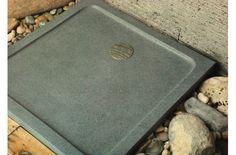 32 x 32  Stone shower base in Gray Granite for Bathroom - CORAL