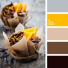 Bright amber color will look impressive against the backdrop of a warm chocolate color and accents to best use the light gray color.