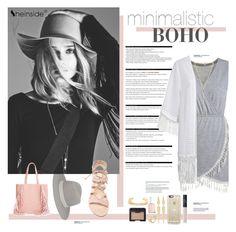 """""""SHEINSIDE minimalist BOHO"""" by dawsonmari ❤ liked on Polyvore featuring BCBGMAXAZRIA, Janessa Leone, NARS Cosmetics, Essie, Panacea, Arche, H&M, Accessorize, Emperia and Cornetti"""