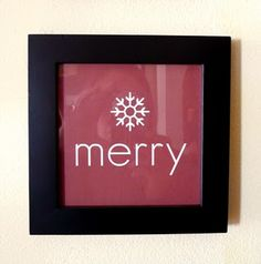 Free MERRY printable. SIMPLE and CUTE