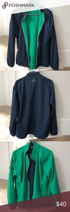 0752afb2ce5 Peter Millar Men s Jacket Men s Spring Summer Reversible Windbreaker. Navy  on one Side and