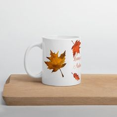Vintage Coffee Cups, Unique Coffee Mugs, Frozen Birthday Party, Frozen Party, Autumn Coffee, Retro Party, Watercolor Leaves, Leaf Design, Autumn Leaves