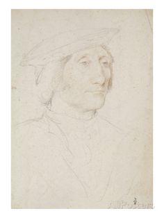 Portrait de Guillaume de Montmorency (1460-1531) reproduction procédé giclée par Jean Clouet sur AllPosters.fr