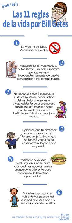 Bill Gates: Las 11 reglas de la vida que tus hijos no aprenderán en el colegio (Parte 1)
