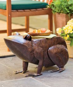 Loving this Iron Frog Side Table on #zulily! #zulilyfinds