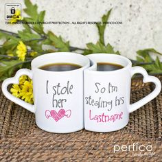 Mr-Mrs Right © Personalized Couple Mugs at Perfico.com