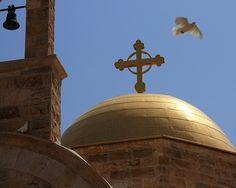 The dove of peace, at the Greek Orthodox Church, Baptism Site, #Jordan #JordanTourism