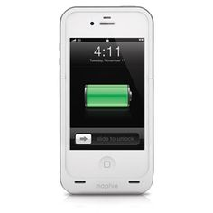 mophie juice pack plus® - iPhone 4 & 4S (white): $99.95