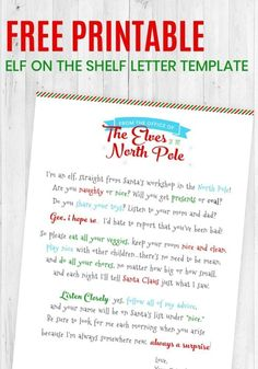 Will a cute little elf be visiting your family for Christmas? If your home will be participating in the Elf on the Shelf tradition, then check out this adorable Free Printable Elf on the Shelf Letter Template that you can use to introduce your elf to the Elf On Shelf Letter, Elf Letters, Santa Letter, Letter From Elf, 2 Letter, Welcome Back Letter, Welcome Letters, Elf On The Self, The Elf