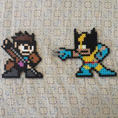 Gambit and Wolverine perler beads by link_theloner