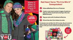 #redheartreflective         Red Heart's Pin It to Win It using Red Heart Reflective Yarn.