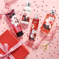 Japanese cherry blossom shower gel,body mist , body lotion and body cream by bath and body works Bath Body Works, Bath N Body, Body Shower, Shower Gel, Japanese Blossom, Bath And Bodyworks, Perfume, Body Mist, Smell Good