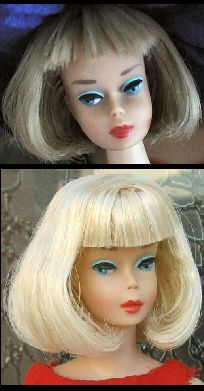 The highly sought American Girl Barbie Doll, made only in 1965-1966.  I am fortunate to have two (not the two pictured)