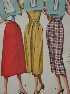 Vintage 1957 McCall's Women's Classic 3 Styles by LadyJanetvintage, $7.75