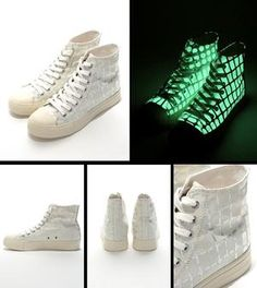 glow in the dark shoes - high top - pro-order now !