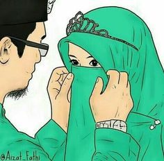 Couple Cartoon Pictures, Cute Couple Cartoon, Cute Love Cartoons, Cute Couple Art, Girl Cartoon, Cute Muslim Couples, Muslim Girls, Cute Couples, Couples Images