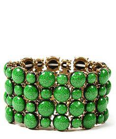 Amrita Singh Sagaponack Stone Row Bracelet in Green, Designer Jewellery Sale, Amrita Singh, Secret Sales