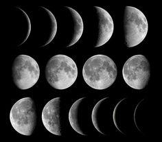 La Lune et ses différentes phases