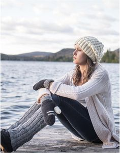 Be pretty AND warm this winter with the natural casual wool. #fashion # mittens # legwarmers #slouchy #hat #beanie #winter #wool #women