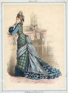 L'Elegance Parisienne July 1875 LAPL