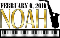The Mitzvah logo combined the child's musical talents, piano and saxophone. This was the main logo of the event and matched the color scheme of gold and black.