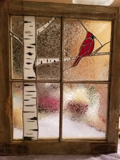 Mosaic Glass Window Ideas Will Give Special Appearance To Your House Stained Glass Cardinal, Stained Glass Paint, Stained Glass Birds, Stained Glass Christmas, Stained Glass Designs, Stained Glass Panels, Stained Glass Projects, Stained Glass Patterns, Fused Glass