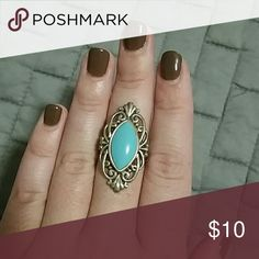 Turquoise ring Size 8 Jewelry Rings