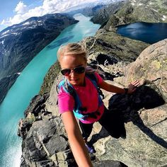 GoProGirl @simonsentine hiking through to beautiful nature of Norway. #GoPro #GoProGirl #landscape #nature #mountains #hiking #norway