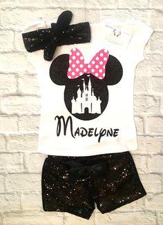 Girls Clothing, Girls Disney Clothing, Minnie Mouse Shirts, Minnie Mouse, Minnie Mouse Onesies, Personalized Disney Shirts, Disney World Shirts, Minnie Mouse - BellaPiccoli
