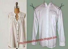 Convertir una camisa en blusa