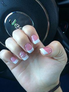 Pink & white solar nails
