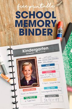 The School Memory Binder keeps track of all your your kid's favorites (friends sports activities field trips lunches their signature and more) for every grade from Pre-School through High School. Kids School Organization, First Day Of School, Pre School, Sports Activities, Activities For Kids, Activity Ideas, High School Memories, Family Memories, Preschool Graduation