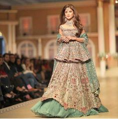 Sajal Ali Stuns At Pantene HUM Bridal Couture Week Pakistani actress Sajal  Ali has the youngest curves and she knows very well how to flaunt them. fb1d08790b6