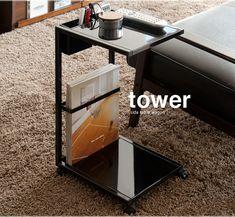 【楽天市場】サイドテーブルワゴン TOWER 〔タワー〕 サイドテーブル サイドワゴン テーブル table ソファ ベッド サイド ナイトテーブル ソファーテーブル モダン 北欧 ブラック ホワイト:エア・リゾーム インテリア