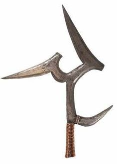 A hunga munga, an African throwing weapon. Think of it as a giant-size shuriken (throwing star).