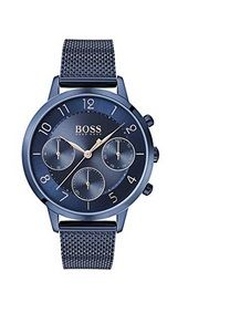 #montre #montredeluxe #luxe #HugoBoss #femme #woman #watch #montres #cuir Montres Hugo Boss, Hugo Boss Watches, Chronograph, Bracelets, Smart Watch, Accessories, Stainless Steel Bracelet, Leather, Woman