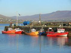 valentia island Kerry.. Knightstown in the evening
