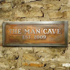 Man Room Sign Man Cave Plaque for Him by AtlasSignsAndPlaques, $82.00