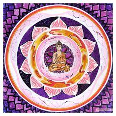 Buddha Meditation, Crown Chakra, Mural Art, Mandala, Decorative Plates, Home Decor, Wall Art, Interior Design, Home Interior Design
