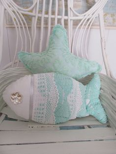 Under the Sea Fish Pillow Nautical Decor Sea by searchnrescue2, $55.00