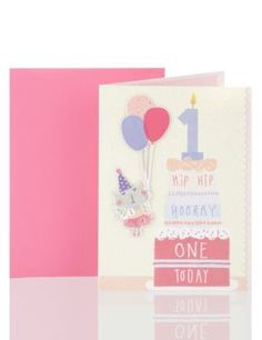 Hip Hip Hooray Age 1 Birthday Greetings Card | M&S