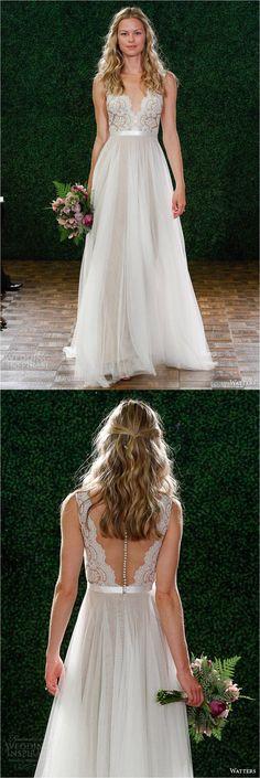 Vestido de Noiva Primavera 2015 - Leve e romântico.