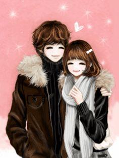 ♫♪♫ Chinthya Dyana♫♪♫: Anime Couple Korea Gif and Jpg