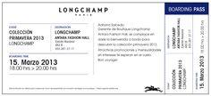 No olviden que mañana están invitados a la presentación de la colección primavera 2013 de Longchamp, sólo impriman esta invitación. Les esperamos.