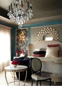 Love the colors in this beautiful bedroom via desiretoinspire